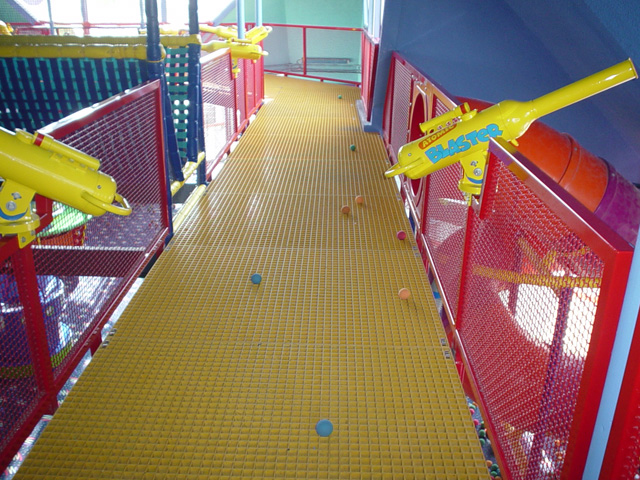Fiberglass Reinforced PlasticGrating in Water Park does not Rust