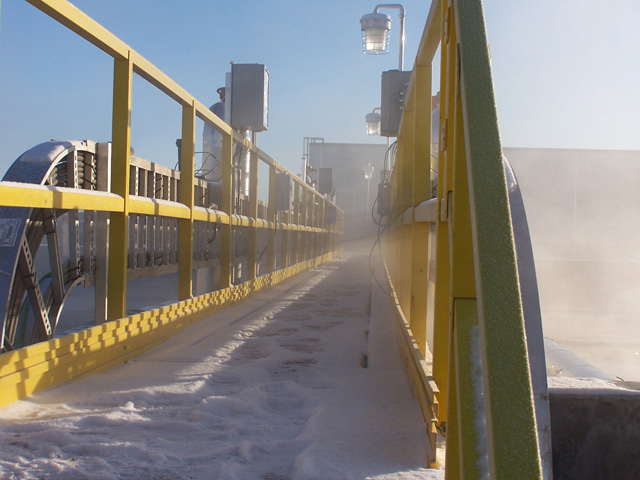 Fiber Glass Reinforced Plastic Walkway in Wastewater Treatment Facility