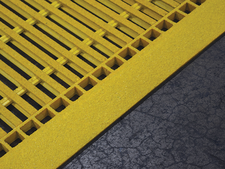 GRP Pultruded Grating Grating Edge Ramp, FRP Pultruded Grating Grating Edge Ramp